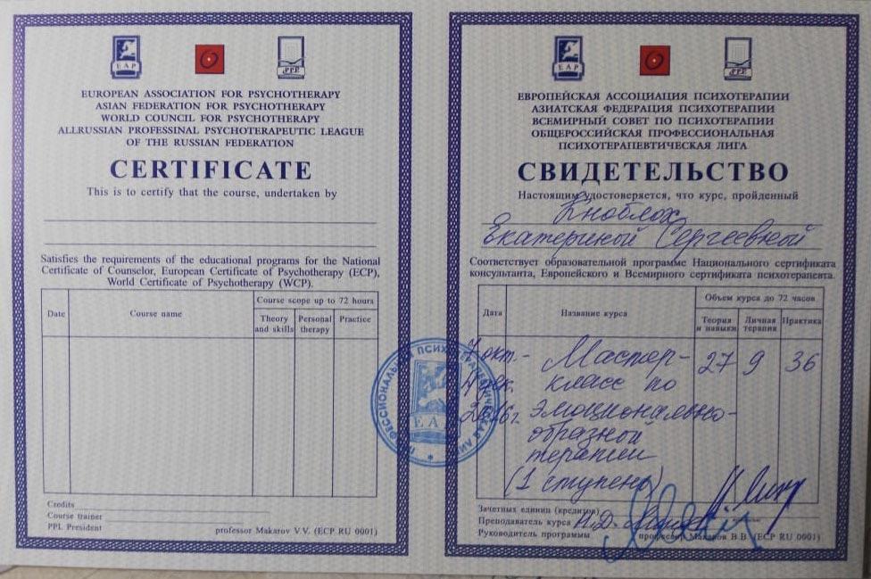 Кноблох Екатерина Сергеевна